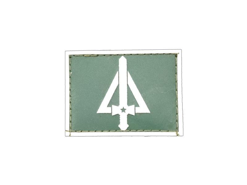aab84f5a3705d Quadro Complementar de Oficiais Gola Exército emborrachado verde com ...
