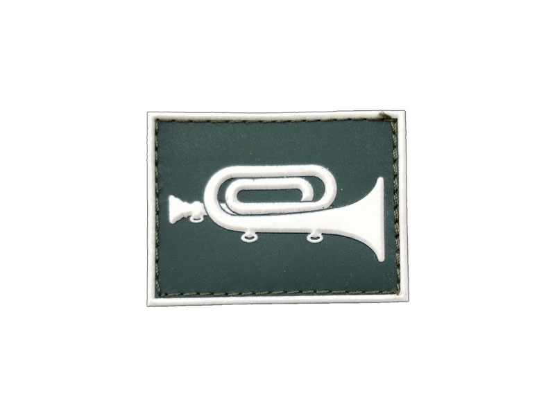 8cfb919a5445d Corneteiro Gola Exército emborrachado verde com branco – Bordaki
