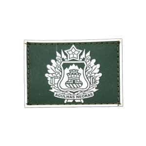 690439b33ac22 Academia Militar das Agulhas Negras Gola Exército emborrachado verde com  branco