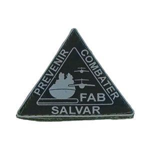 Prevenir Combater Salvar FAB, emborrachado camuflado com cinza