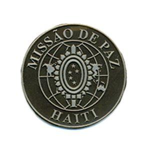 ONU Haiti emborrachado camuflado com cinza