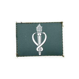 Veterinário Gola Exército emborrachado verde com branco