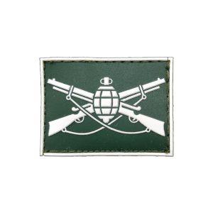 Infantaria Gola Exército emborrachado verde com branco