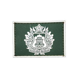 Academia Militar das Agulhas Negras Gola Exército emborrachado verde com branco