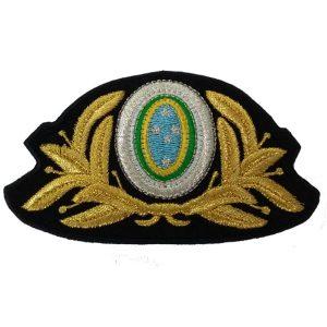 Crachá quepe Oficial masculino Exército com linha nacional