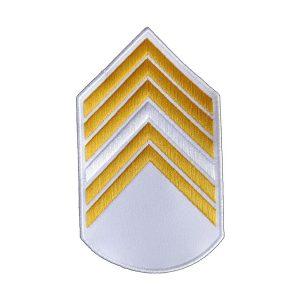 Divisa 1º Sargento, Branca com Amarelo