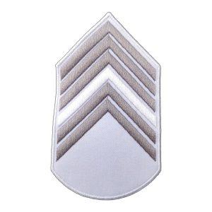 Divisa 1º Sargento, Branca com Cinza
