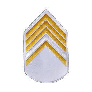 Divisa 2º Sargento, Branca com Amarelo
