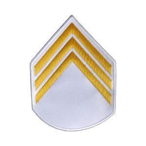 Divisa 3º Sargento, Branca e Amarelo