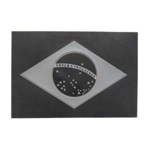 Bandeira do Brasil, emborrachada, preta e cinza
