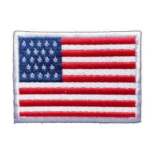 Bandeira do EUA, bordada, colorida