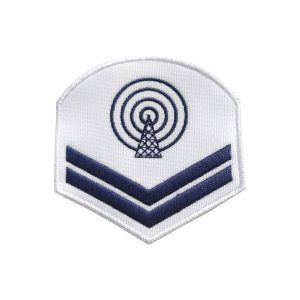 Divisa de CB-CN, branca, bordada
