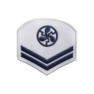 Divisa de CB-EL, branca, bordada