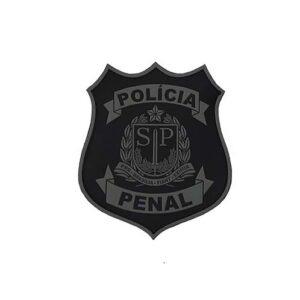 Brasão Polícia Penal SP emborrachado